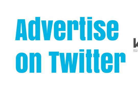 Advertise on Twitter