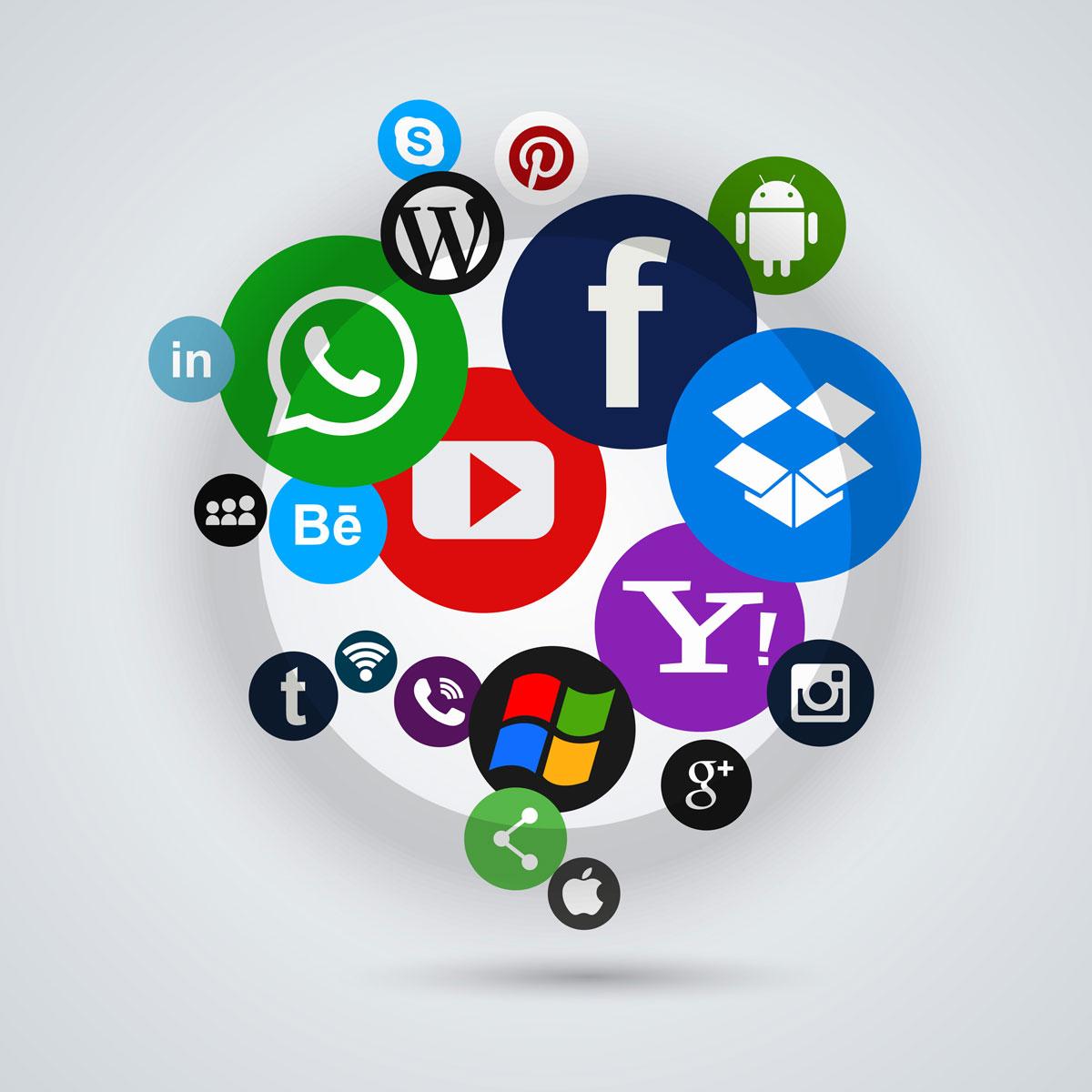 led sign social network - HD1200×1200